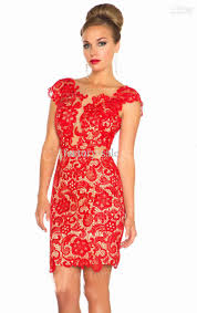 red lace cocktail dress macys formal dresses