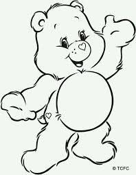care bear outline coloring pages coloring pages