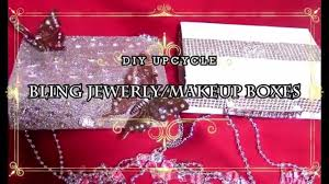 light up display stand dollar tree diy dollar tree upcycle bling jewelry makeup boxes youtube