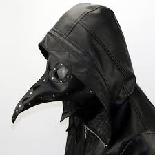 plague doctor masquerade mask new design party steunk pu black plague doctor mask