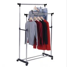 newest clothes hanging rail portable adjustable garment rack