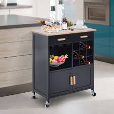 kitchen islands with wine rack hayneedle
