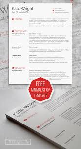 Photo Resume Template Free Smart Freebie Word Resume Template The Minimalist Cv Template