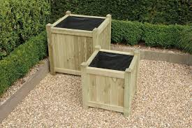 garden timber planters and veg planters pressure treated for a