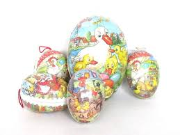 paper mache egg easter eggs set of 5 german easter paper mache eggs vintage