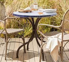 outdoor mosaic bistro table havana mosaic bistro table pottery barn