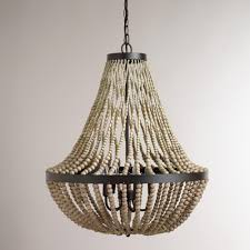 Nursery Chandelier Large Wood Bead Chandelier Wood Bead Chandelier Beaded