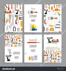 identity card template six card companies stock vector 294636803