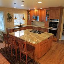 kitchen cabinets and countertops prices hickory cabinets with netuno bordeaux granite countertops