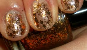 nail polish penny candy copper hand blended glitter nail