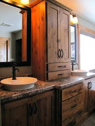 vibrant rustic bathroom vanities for vessel sinks craftsman vessel