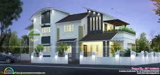 Home Parapet Designs Kerala Style by Box Type Modern House Plan Kerala Home Design Floor Plans Free
