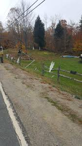 car takes out fence halloween decorations in temple lewiston