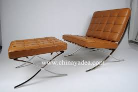 replica barcelona chair and ottoman barcelona leather chair white