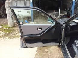 audi 80 90 front door card window lock handle removal
