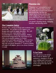 wedding planner packages baltimore wedding planner events by mackie packages