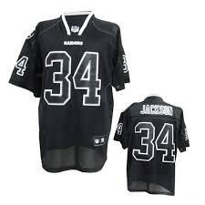 nfl lights out black jersey mlb nhl nfl jerseys nfl okaland raiders 34 bo jackson lights out
