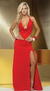 ladies long evening glamour dresses stripper club wear prom
