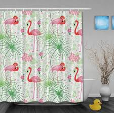 Flamingo Shower Curtains Curtains Pink Shower Curtain Hooks Flamingo Shower Curtain