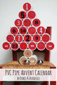 advent calendar pvc pipe advent calendar christmas countdown dukes and duchesses