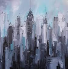 manhattan new york cityscape new york paintingcity