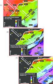 Map Of Mass Seismic Interpretation Of Mass Transport Deposits Within The Upper