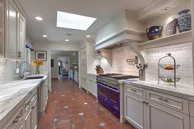 recessed baseboard kitchen transitional with white baseboards