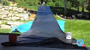 how to make a backyard slip u0027n slide youtube