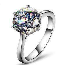 diamond rings aliexpress images Round cushion cut 4ct solitaire halo diamond ring jpg