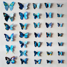 aliexpress com buy 12pcs lot 3d magnetic butterfly stickers wall