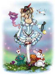 drawn alice wonderland demented pencil color drawn