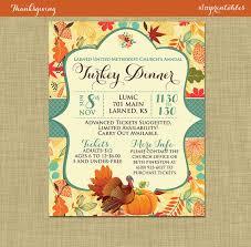 Thanksgiving Invitations Templates Free Fall Turkey Dinner Harvest Thanksgiving Invitation Poster