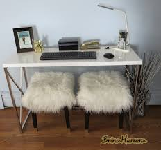my glamorous nils stool with white mongolian fur seats