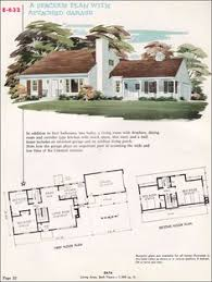 cape cod house plans with attached garage 1948 floor plan the traditional styles after the war were often
