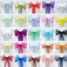organza sashes 2017 2015 wedding party banquet organza sash bows100 a for white