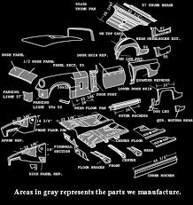 1965 mustang sheet metal sheet metal inc thunderbird 55 7