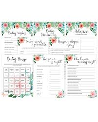 8 floral baby shower games for girls unique baby shower