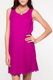 everly scalloped hemline dress from florida by elise u2014 shoptiques