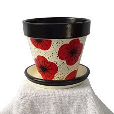 Painting Garden Pots Ideas Painted Garden Pot And Black Poppy Garden Pots Paint