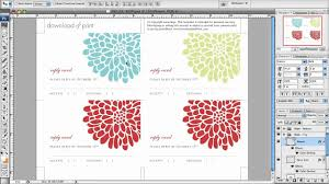 how to make a multi color rsvp card in photoshop and tips for