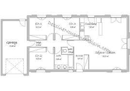 plan maison 80m2 3 chambres awesome plan de maison 100m2 14 plan appartement 80m2 3