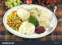 thanksgiving mashed potatoes and gravy delicious thanksgiving dinner turkey dressing mashed stock photo