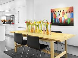 floral centerpieces for kitchen tables tall contemporary flower arrangements kitchen modern with wall art