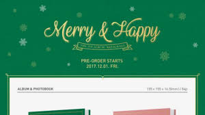 1st repackage album merry happy usa order pre order