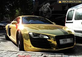 audi costly car most expensive car golden audi r8 from moscow