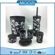 Black Plastic Bathroom Accessories Set Buy White Plastic Bathroom - White plastic bathroom accessories