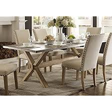modern zinc top dining room furniture in weathered