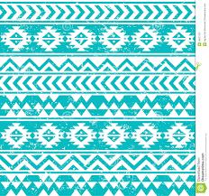 aztec tribal seamless grunge white pattern on blue background