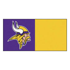 fanmats nfl minnesota vikings purple and gold nylon 18 in x 18
