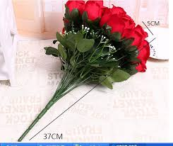 Silk Flowers Wholesale 3pcs 18 Heads Rose Flower Wholesale Simulation Silk Flowers Bride